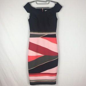 Ted Baker Mytany Sahara Print Sheath Midi Dress